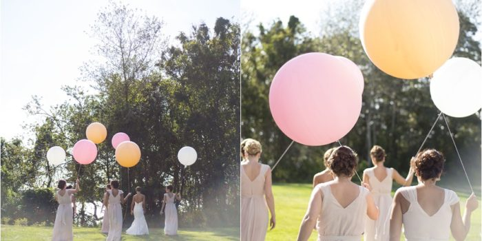 Pink Balloons // One Frame | Cape Cod Wedding