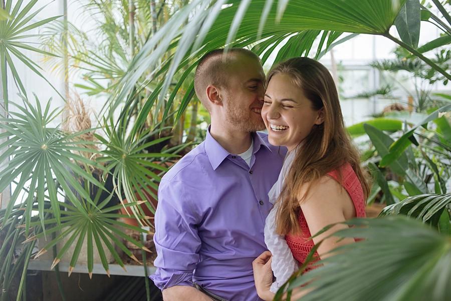 Sam Andrew Engaged Wellesley College Botanical Garden Stephanie Rita Photography