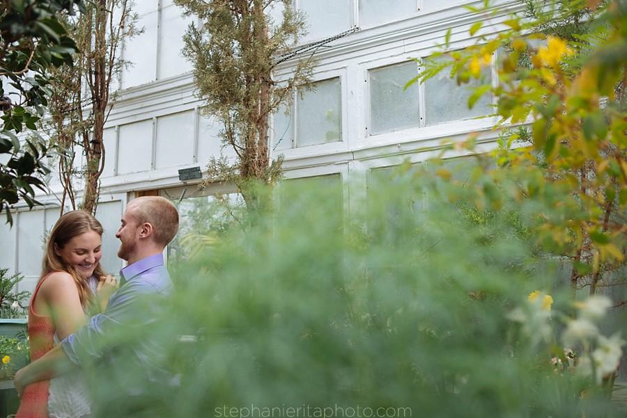Sam Andrew Engaged Wellesley College Botanical Garden Stephanie Rita Photo Vibrant