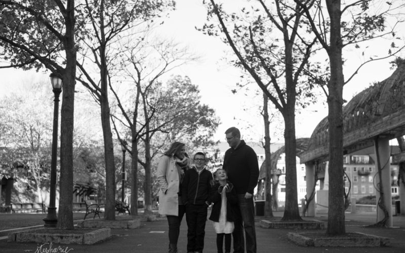 Chilly Boston Harbor Family Session