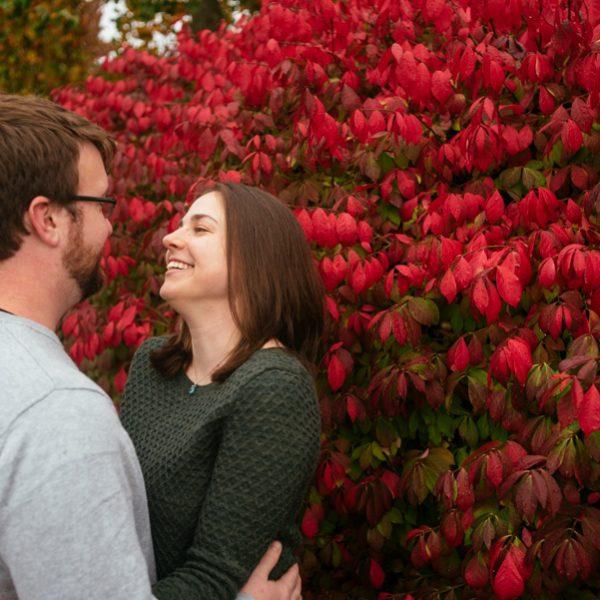 Sarah + CJ // Engaged!   Burlington Town Common Engagement Photos
