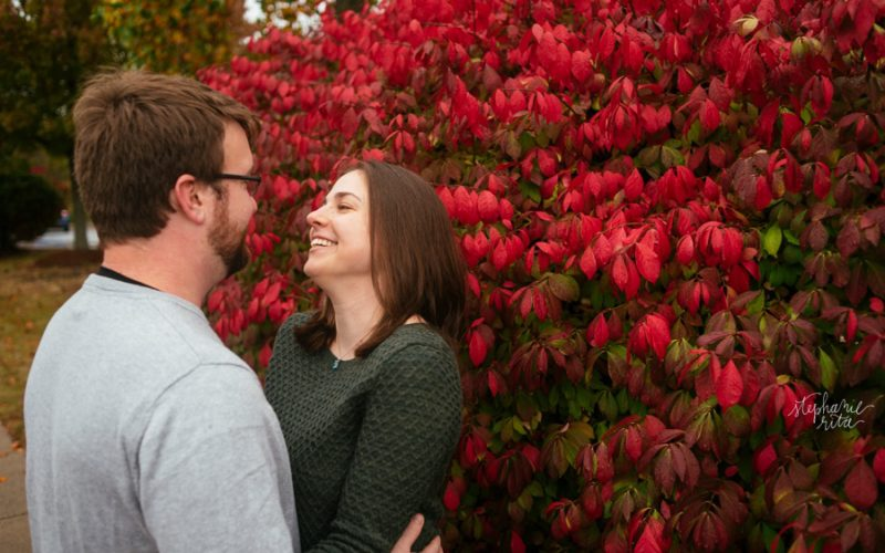 Sarah + CJ // Engaged! | Burlington Town Common Engagement Photos