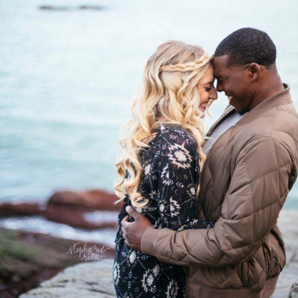 Mary + Jordan // Engaged!   Cliff Walk Engagement Photos
