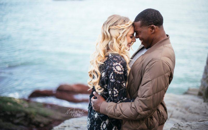 Mary + Jordan // Engaged! | Cliff Walk Engagement Photos